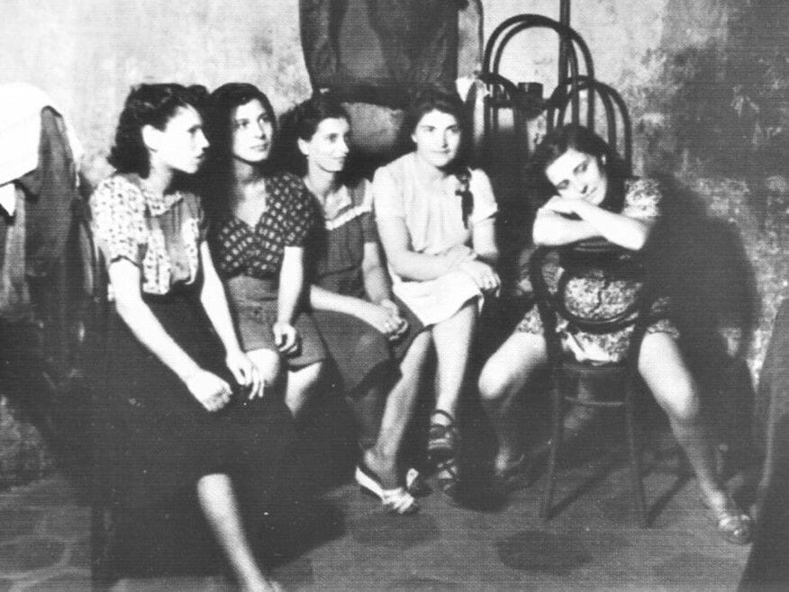 Erotický salón (bordel) v talianskom Neapole, rok 1945